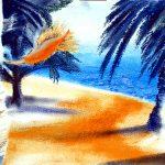 Hinter dem Palmengarten/ Malerei