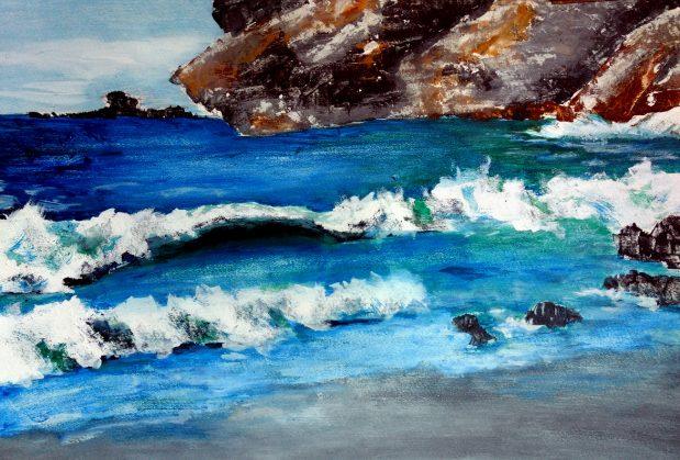Wasser – fließend und in Wellen